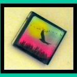 Magnet - Bird - 1 Inch Glas..