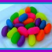 Jelly Bean Soaps - Easter Soaps - Set of 24 - Neon Colors