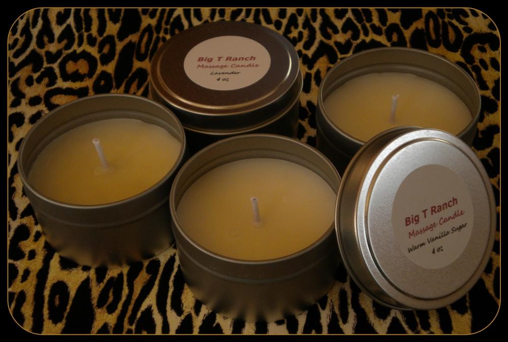 Candle - READY TO SHIP - Soy Massage Candle - Lavender scented - 4 oz