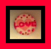 Magnet - LOVE - 1 Inch Glass Circle - Valentine's Day, Weddings