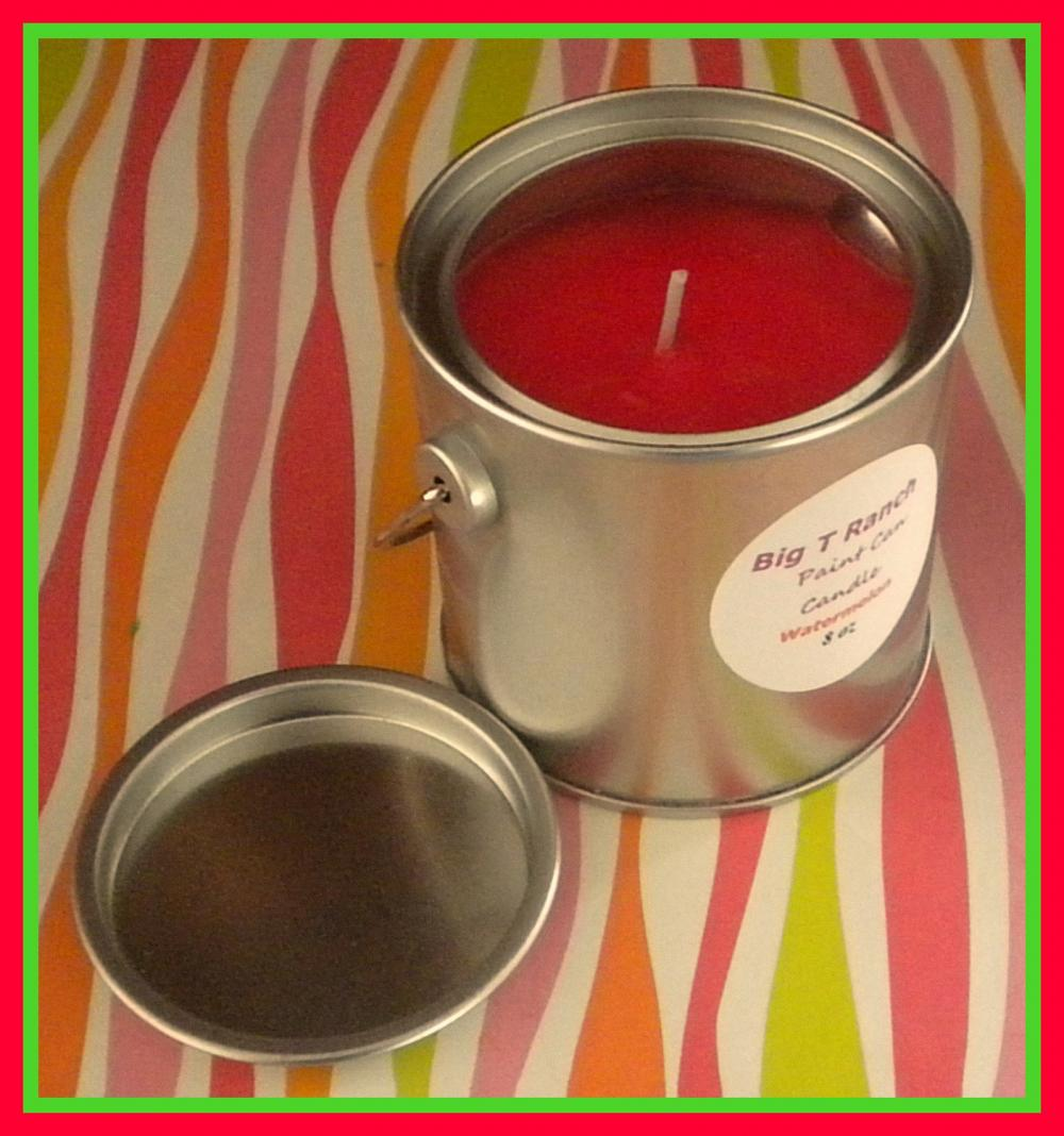 Candle - Paint Can Soy Candle - Juicy Watermelon scented - 8 oz