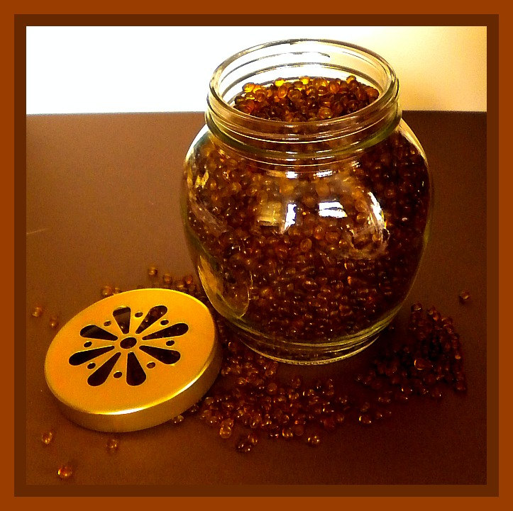 Air Freshener - Aroma Beads - Amaretto - 12 oz Jar with Daisy Cutout Lid