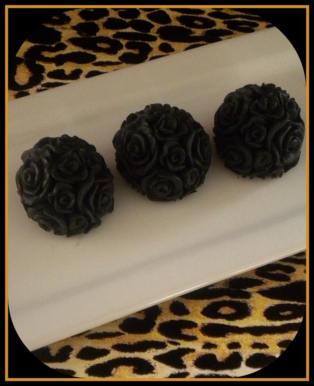 Soap - Black Roses - Made with Goat's Milk - Set of 3 - You Choose Scent