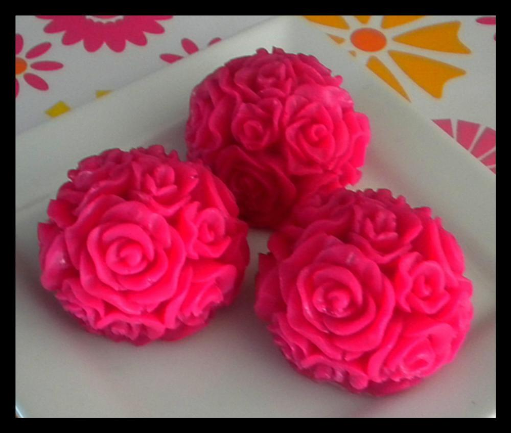 Soap - Pink Roses - Made with Goat's Milk - Set of 3 - You Choose Scent