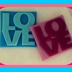 Soap - LOVE - Valentine&#039;s Day, Weddings, Party Favors, Bridal Showers - You Choose Colors and Scent