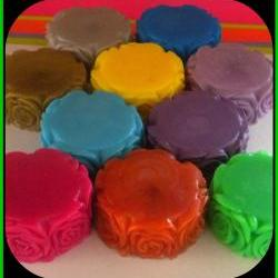 25 Rose Flower Soaps - You Choose Scents and Colors - Weddings, Bridal Showers, Baby Showers