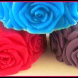 Soap - Rose Flower Soap - Made with Goat&#039;s Milk - You Choose Scent and Color