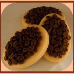 Soap - French Vanilla Coffee Bean Massage Bar - made with goat's milk