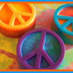 Tie Dye Peace Sign Soap - Choose your colors and scent