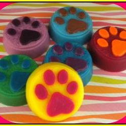 Soap - Paw Print Goat Milk Soap - You Choose Colors and Scent