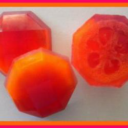 Loofah Soap - Pomegranate Mango Papaya Goat Milk Soap Exfoliator