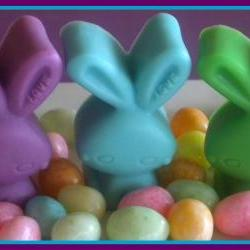 Easter Bunny Soaps - Set of 3 - Lavender, Pastel Blue, Pastel Green