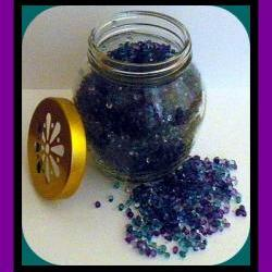 Aroma Beads - Sugar Plum Berries - 12 oz Jar with Daisy Cutout Lid