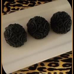 Soap - Black Roses - Made with Goat&#039;s Milk - Set of 3 - You Choose Scent