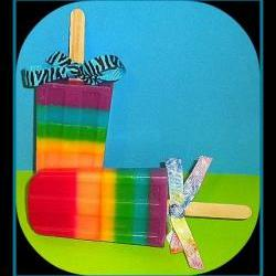 Rainbow Soapsicles - Popsicle Soaps - Party Favors Set of 6 --- 6 scents in each one