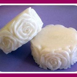 Wedding Soap - Rose Flower - Shimmery White - You Choose Scent