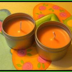 Soy Candle - Mango Papaya scented - 2 oz