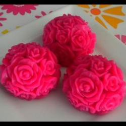 Soap - Pink Roses - Made with Goat&#039;s Milk - Set of 3 - You Choose Scent