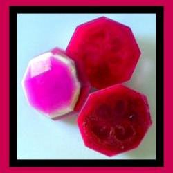 Loofah Soap - READY TO SHIP - Black Raspberry Vanilla Goat Milk Soap Exfoliator