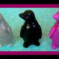 Soap - Penguins- Set of 2 - Your Choice of Fragrance and Color - 3D - Goat Milk Soap